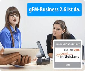 gFM-Business 2 CRM, Faktura und Warenwirtschaft