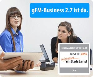 gFM-Business 2.7 mit Projektverwaltung