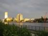 Blick aus dem Hotel in der Abendsonne