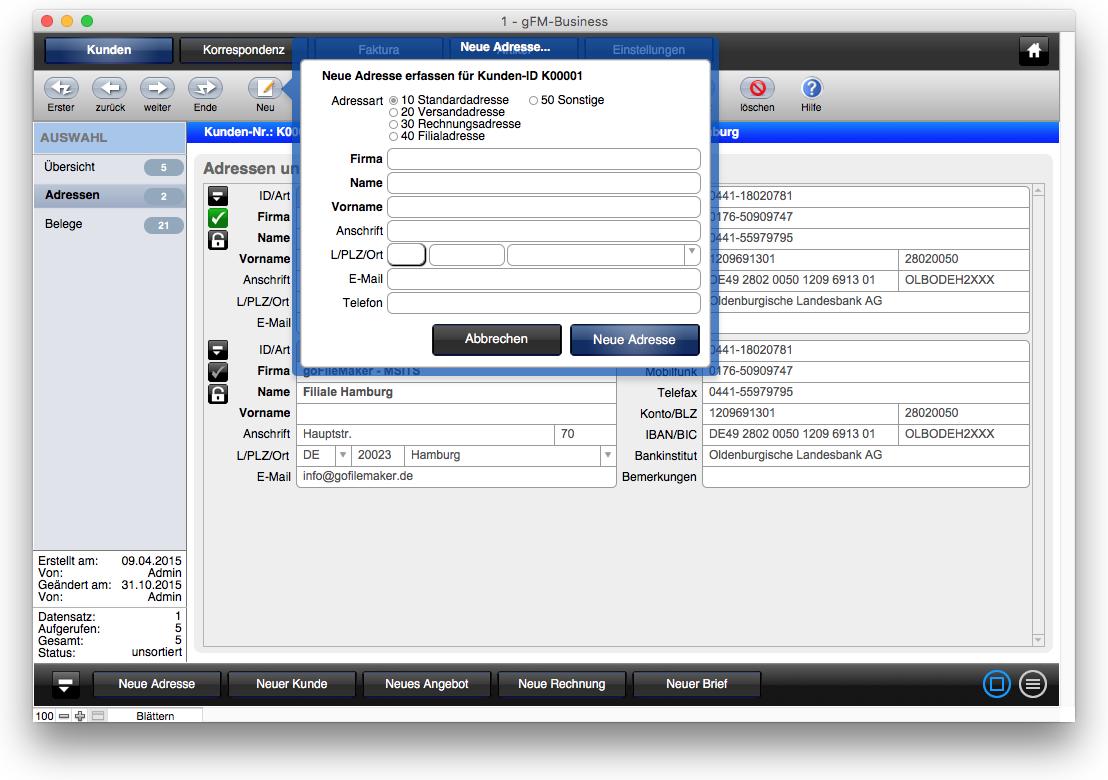 Freeware Rechnungsprogramm und Warenwirtschaft für Mac, PC, iOS
