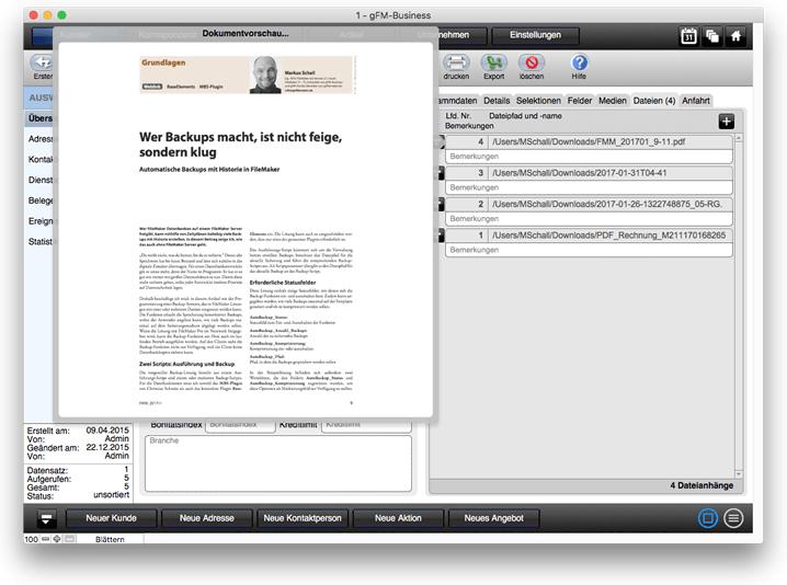 CRM: Dateianhänge für Kontakte