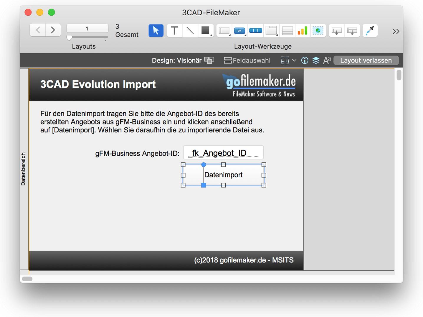 Layout für Benutzeroberfläche