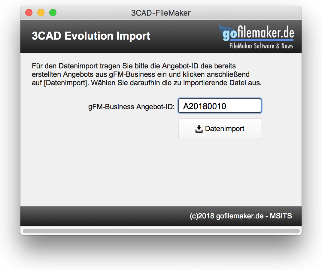 3CAD-Evolution Importmodul