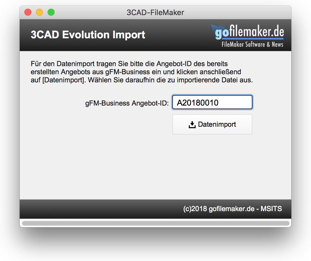 3CAD-Evolution Importmodul