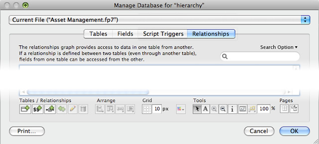 Beziehungen verwalten in FileMaker 12