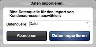 Daten aus externen Dateien importieren