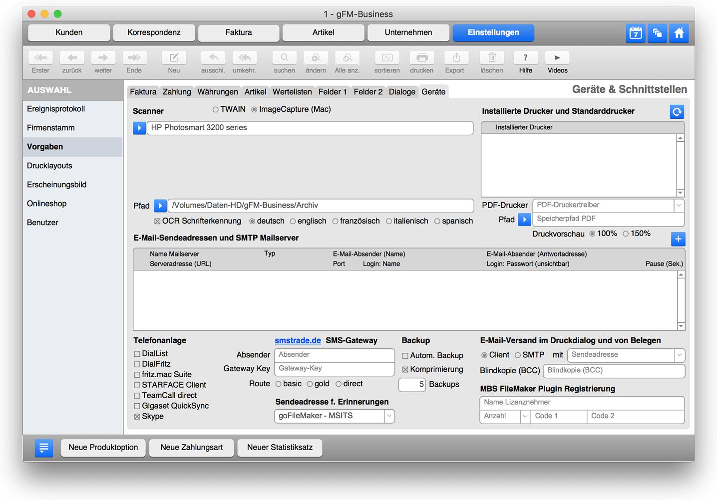 Scanner mit ImageCapture einrichten