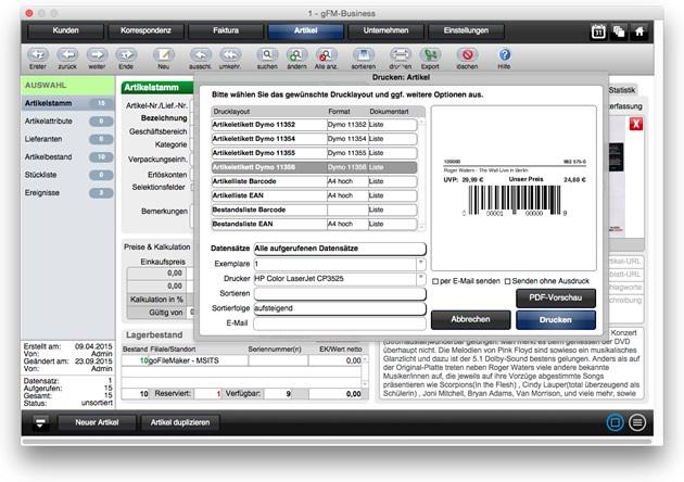 Etikettendruck für Dymo und Zweckform