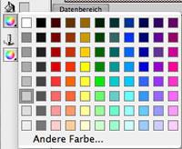 Farbwahl der Füllfarbe des Datenteils