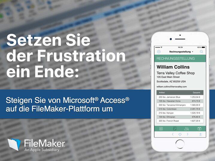 Kostenloses E-Book zu FileMaker und Microsoft Access