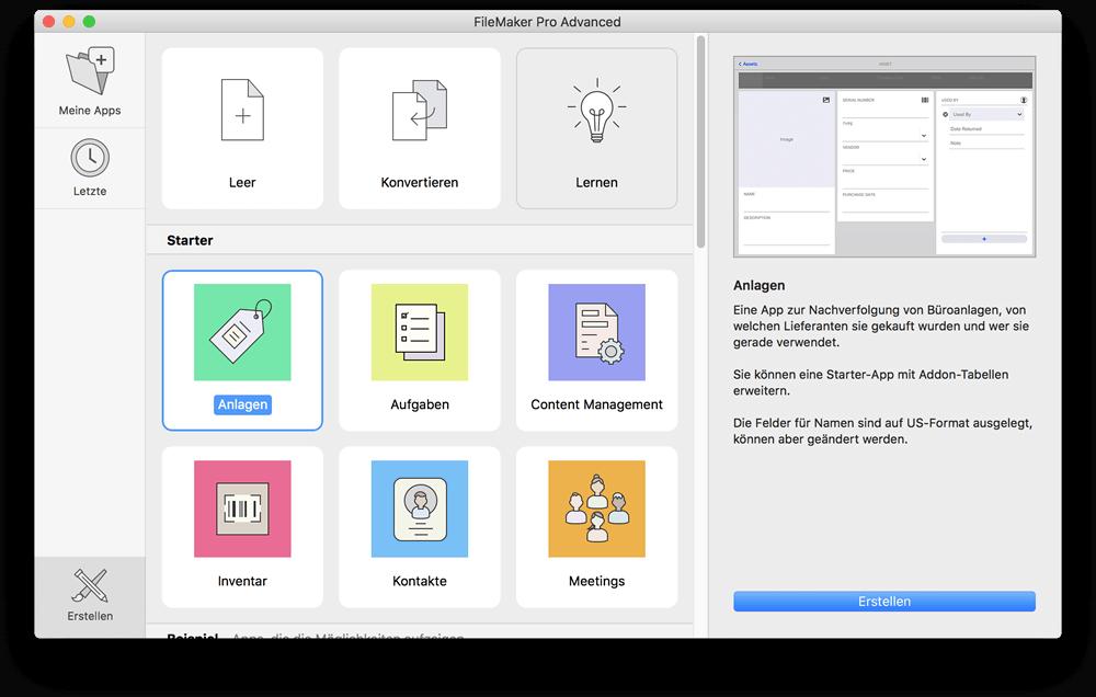 FileMaker Starterlösungen