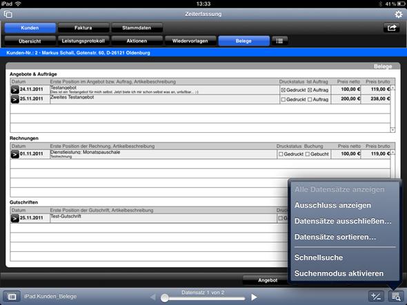 FileMaker Go: Datensätze ausschließen und sortieren