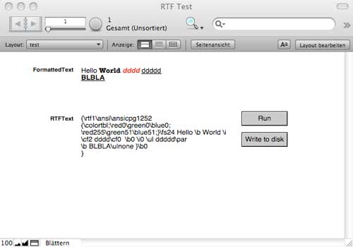RTF Texte im FileMaker