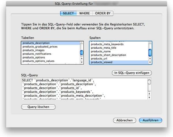 SQL-Query-Erstellung
