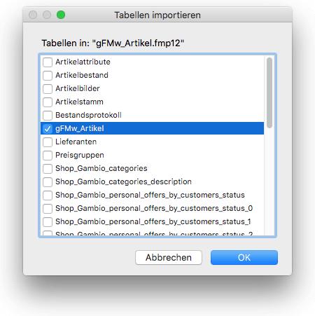 Tabellen aus anderer Datei importieren