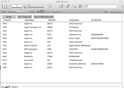 Relevante USB Information mit dem MBS PlugIn auslesen