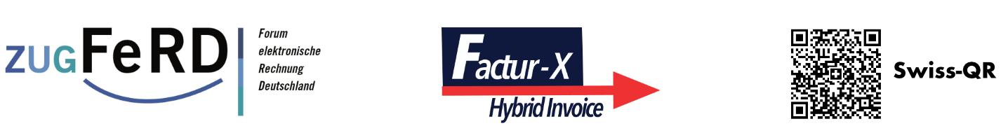 Elektronische Rechnungen mit ZUGFeRD, Factur-X und Swiss-QR