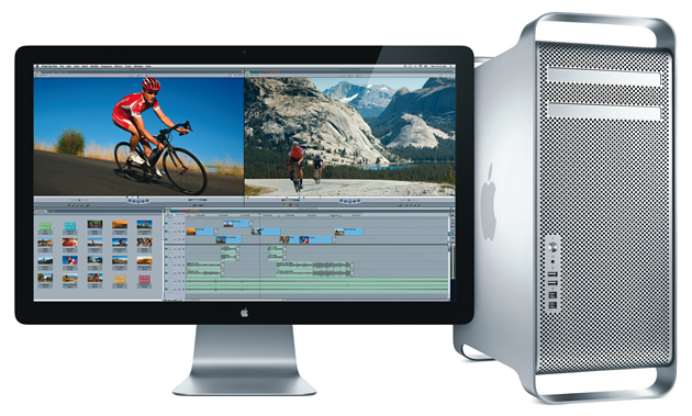Apple Mac Pro mit LED Cinema Display.