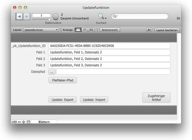 FileMaker Beispiellösung