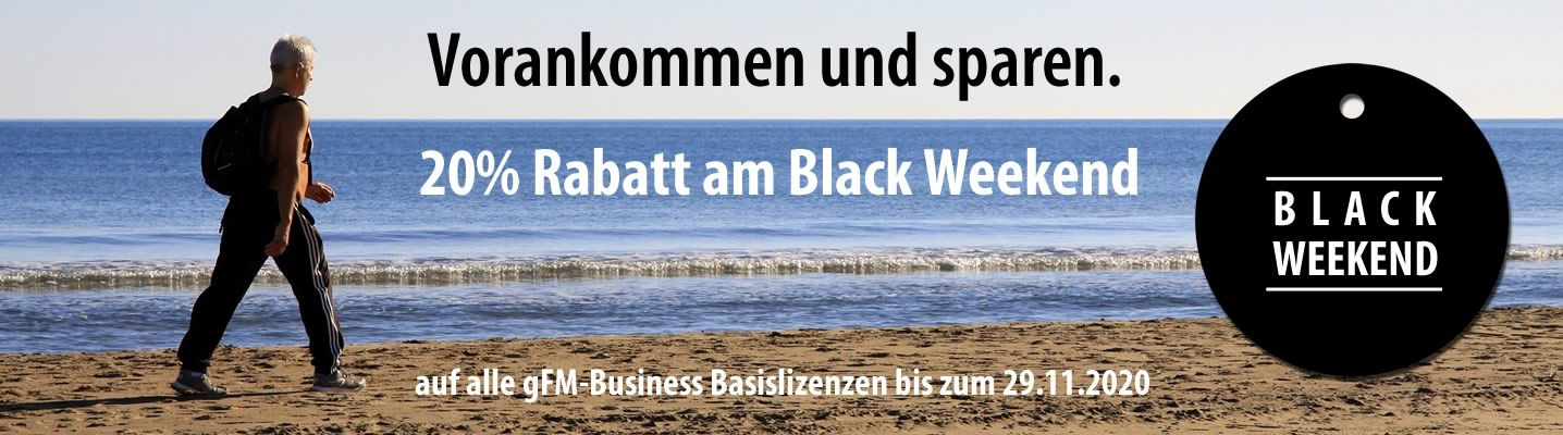 Black Weekend: 20% Rabatt bis zum 29. November 2020