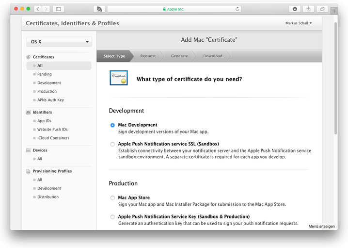What type of certificate do you need?
