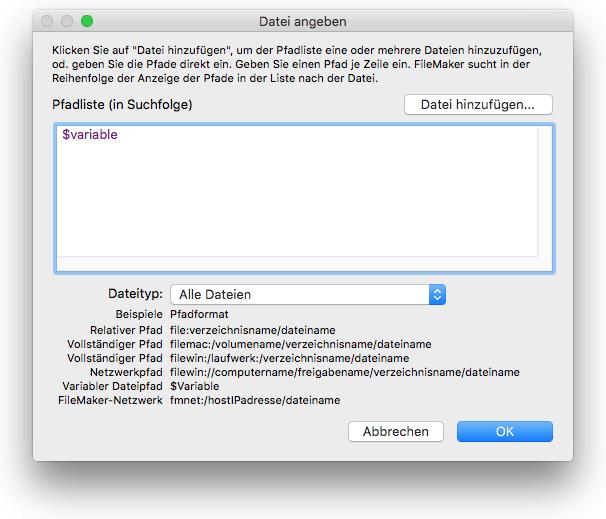 Variable als Dateipfad angeben