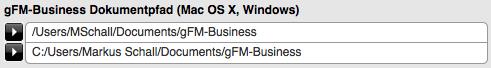 Dokumentpfad für Mac OS X und Windows