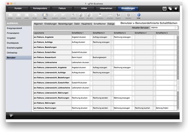 Einrichtung von Favoriten-Schaltflächen für Benutzer