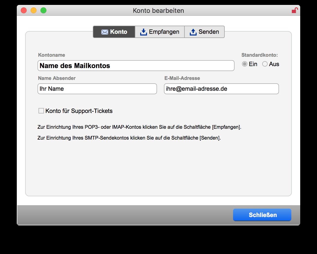 Neues E-Mail-Konto erstellen