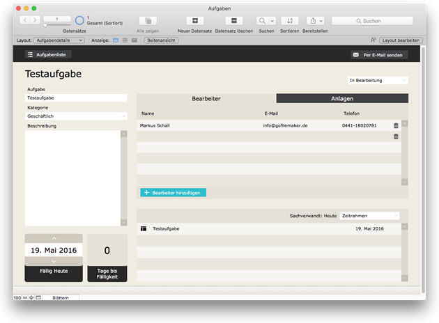 FileMaker 15 Starterlösung: Aufgaben
