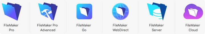 Alle Produkte der FileMaker-16-Plattform