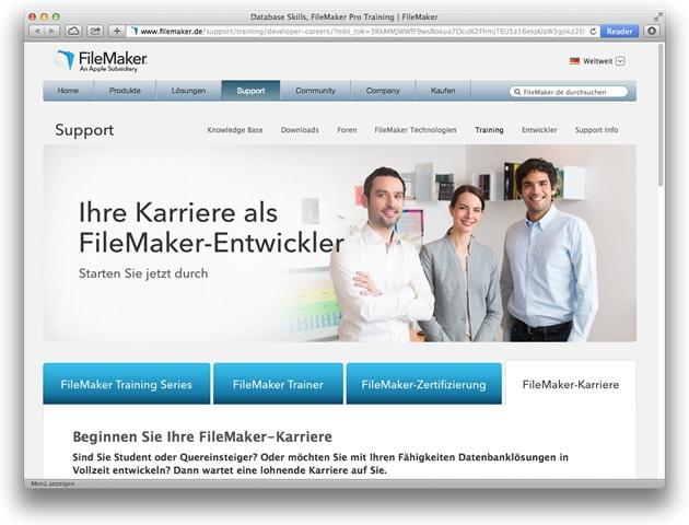 Karriere als FileMaker-Entwickler