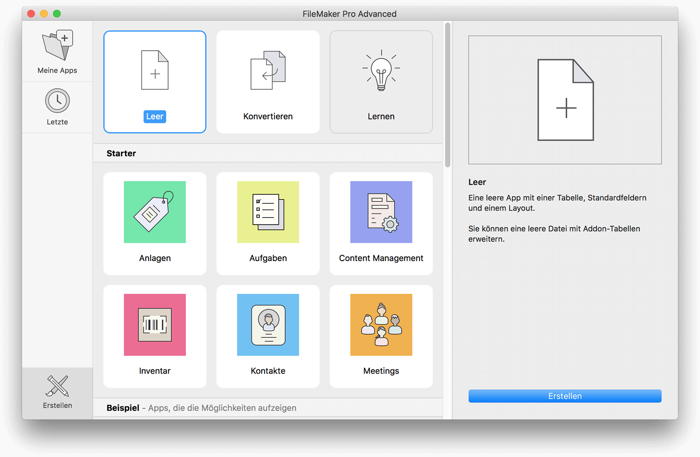 FileMaker Pro Advanced 17 für Mac und Windows