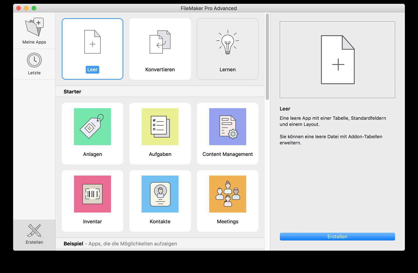 FileMaker Pro Advanced 17 für Mac und Windows
