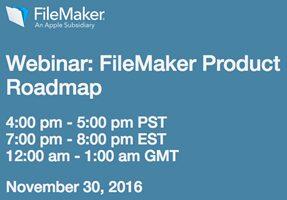 Webinar zur FileMaker Roadmap 2016