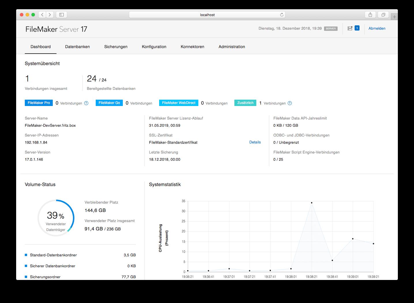 FileMaker Server 17 mit neuer Benutzeroberfläche