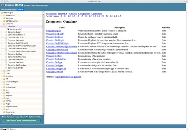 FM-Explorer FileMaker Hierarchien - Screenshot 1