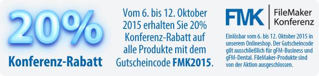 20% Konferenz-Rabatt zur FileMaker-Konferenz