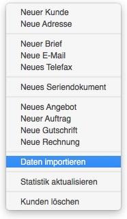 Funktion zum Datenimport von Adressen