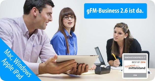 gFM-Business 2.6 CRM, Faktura und Warenwirtschaft