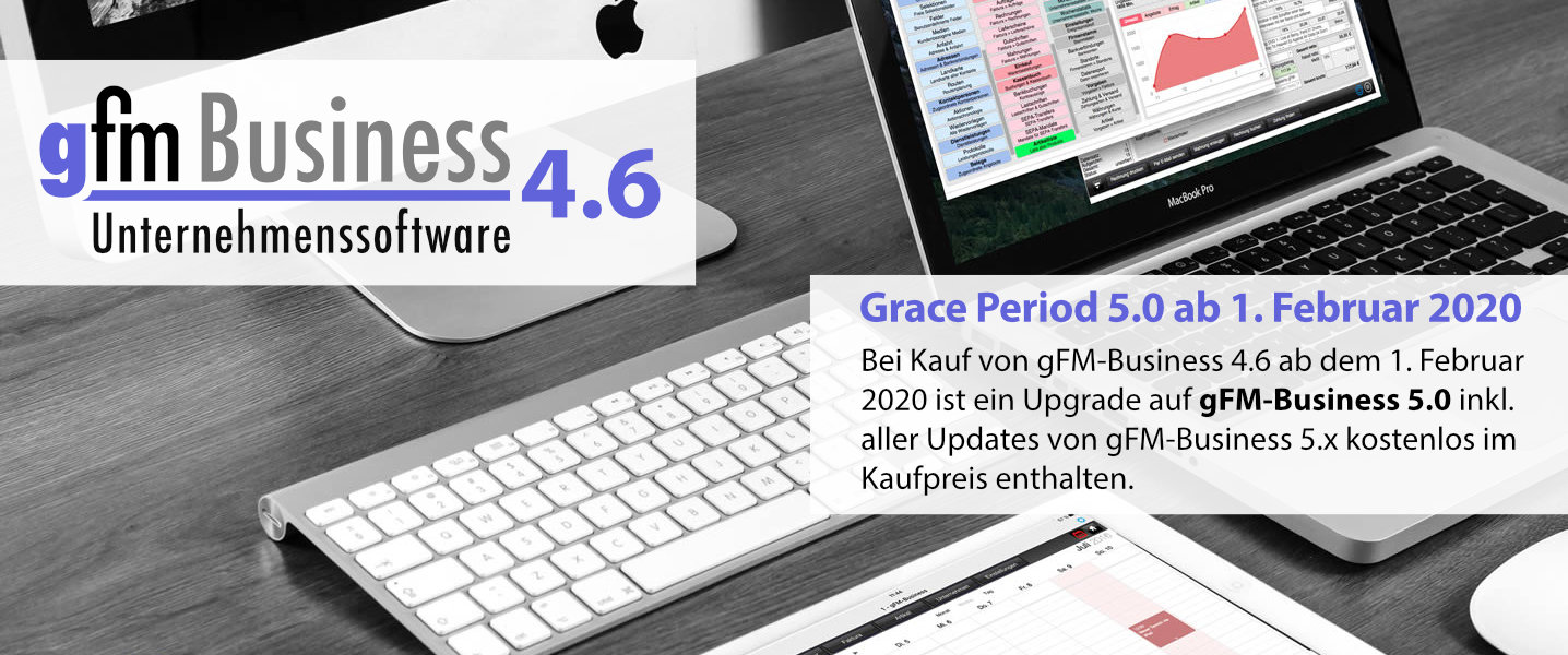 gFM-Business 4.6 ERP-Software für Mac, Windows und iOS