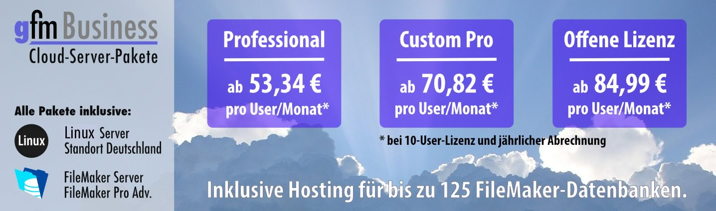 gFM-Business Cloud-Server-Pakete