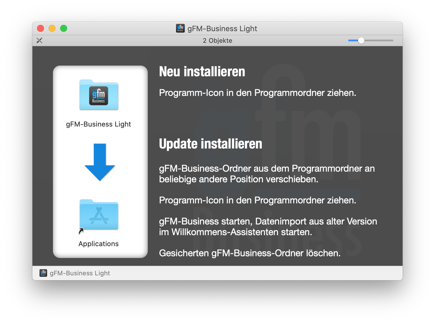 gFM-Business Installation auf macOS-Computern