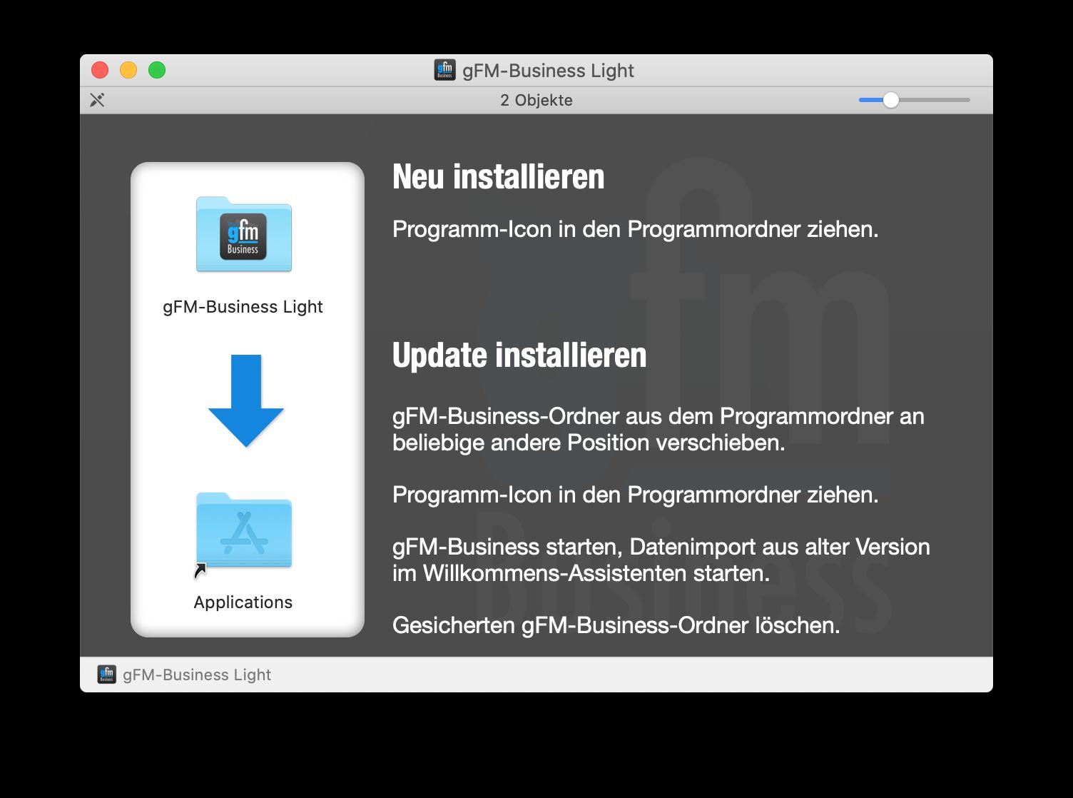 gFM-Business Installation auf macOS-Computern
