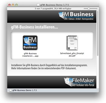 gFM-Business installieren