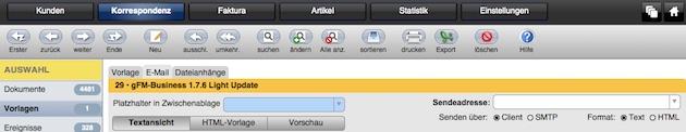 Benutzeroberfläche mit dynamischer Navigation