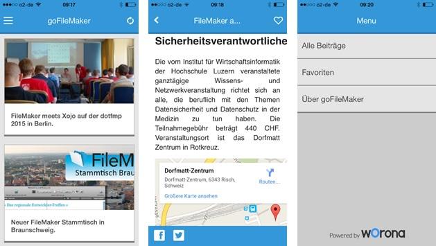 goFileMaker News App Screenshots