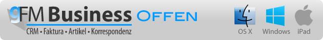 gFM-Business Offen für Mac, Windows, iPad