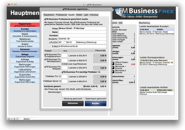 gFM-Business free kaufen oder mieten