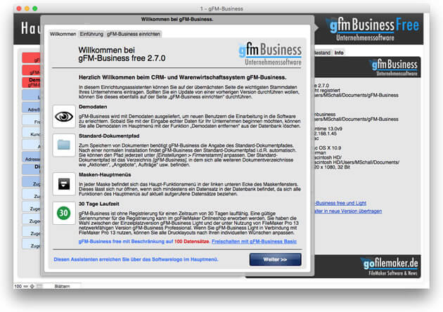 gFM-Business free und Basic 2.7 Update